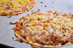Viktväktarpizza på tortillabröd