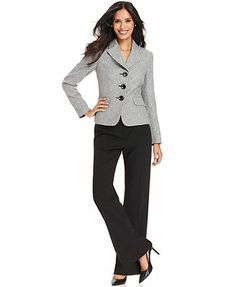 Anne Klein Pinstripe Suit Separates Collection - Womens Suits ...