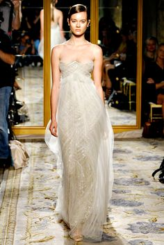 Marchesa Spring 2012 Ready-to-Wear; Empire Waistline with tulle