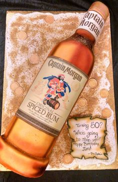 Captain Morgan Bottle Cake Bottle Cake Captain Morgan
