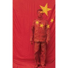 Hide In The City by Liu Bolin, flag
