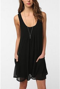UrbanOutfitters.com > Sparkle & Fade Pintuck Frock Dress $69.99    I love that you can do so much to dress up and dress down this dress. I perfect LBD.