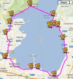 This bicycle tour South of Lake Garda has a route length of 68 km and a duration of approximately 4 hours. Travel Around The World, Around The Worlds, Seen, Lake Garda, Travel Checklist, Tours, Bike Trails, Verona, Italy Travel