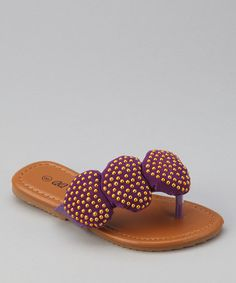 Take a look at this Purple Play 88 Heart Sandal by QQ Girl on #zulily today!