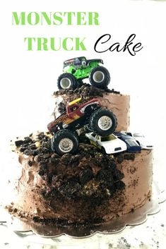 Monster Truck Birthday Cake // Life Anchored