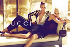 Abbey Lee Kershaw & Karmen Pedaru | Mert & Marcus #photography | Gucci S/S '12 campaign