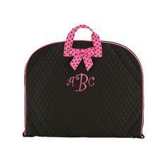 Belvah bags. Garment w/monogram.