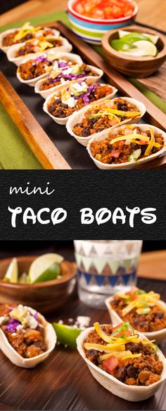 One-Skillet Mini Taco Boats Recipe | If you love tacos, you'll love these taco boats! These delicious tortillas make assembly a snap, and their miniature size means they're perfectly-portioned. Make the meal your own, by adding your favorite toppings. Click for the recipe and video how-to! #familydinner #taconight #easyrecipes