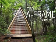 An A frame Cabin or Tiny House for 2000 The Dart Greenhouse