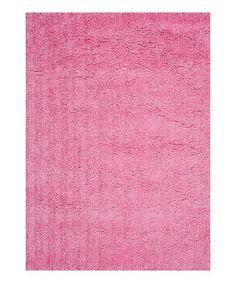 Another great find on #zulily! Pink Hera Shag Rug #zulilyfinds
