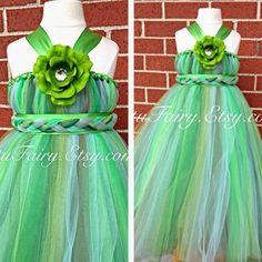 Tutu Fairy This is one of the newest creations at Tutu Fairy. It's a Tinkerbelle inspired tutu dress made for a princess. Green Flower Girl Dresses, Green Dress, Flower Girls, Tinkerbell Dress, Green Tutu, Tulle Dress, Tutu Dresses, Kids Dress Up, Different Shades Of Green