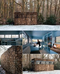 Log House Study - Hans Liberg — Architecture-Design -- Better Living Through Design   Good for a bug out location