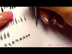 tutorial basi micropittura acrilica ricostruzione unghie - YouTube