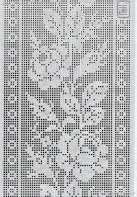 Best 9 Kira scheme crochet: Scheme crochet no. Filet Crochet Charts, Crochet Borders, Crochet Motif, Crochet Doilies, Crochet Squares, Crochet Placemats, Crochet Table Runner, Weaving Patterns, Knitting Patterns
