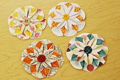 These are wonderful. I even made a wall size one using a dinner plate for my circles.  Love it.