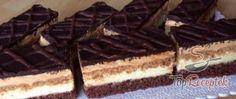 A legjobb gyorsan elkészíthető túrós szelet | TopReceptek.hu Cake Cookies, Waffles, Cheesecake, Food And Drink, Sweets, Candy, Chocolate, Baking, Breakfast