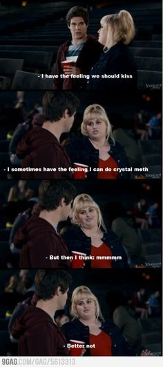 Pitch Perfect - I loved this movie!  Could have done without the numerous puke scenes, but this scene was hilarious lol