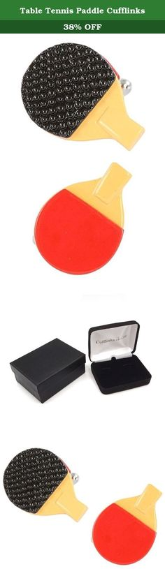 Table Tennis Paddle Cufflinks. Silver plated and resin table tennis paddle cufflinks. A bright and fun look for your cuff. 5/8 inch in diameter. Presentation boxed.