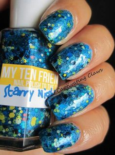 My Ten Friends - Starry Night.  I must have this polish!  I'm a huge Van Gogh fan, and Starry Night is my favorite piece of art.  This polish depicts that painting so well, my mind is blown!  LOVE IT!