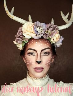 Woodland Deer - Halloween Costumes You Can Make With Just Makeup - Photos