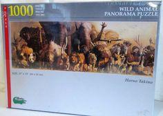 Puzzle Jigsaw 1000 Piece Wild Animal Panorama Puzzle Artist Haruo Takino #Safari