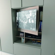 GRAFIK Wardrobe with built-in TV by Caccaro design Sandi Renko, R ...