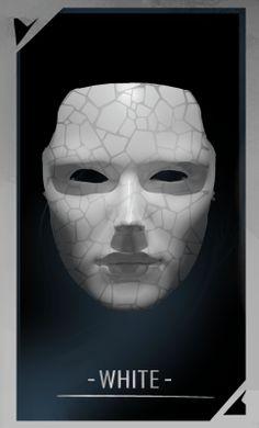 WHITE mask for FAWKE