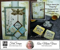 Distress Ink, Stencils, Ann, Crafty, Videos, Frame, Amazing, Modern, Projects