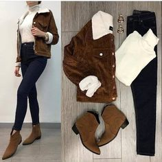 Kombi-Outfits kombinieren und kombinieren - Just Trendy Girls - Things to wear - Kleidung Outfits Damen, Komplette Outfits, Winter Fashion Outfits, College Outfits, Classy Outfits, Stylish Outfits, Winter Mode Outfits, Fall Outfits, Preppy Trends