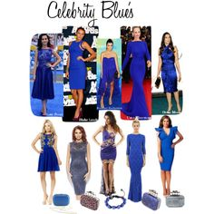 """""""Celebrity Blue's"""" by designerdesirables on Polyvore"""