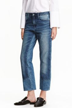 Regular Low Cropped Jeans