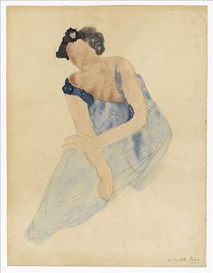 Femme assise en bleu © Musée Bourdelle - auguste rodin