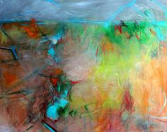 Landscape Painting Original Abstract Large by kerriblackmanfineart, $235.00