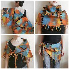 Wool flted wrap / scarf / hip wrap