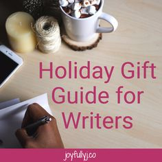 The holidays are upon us, and you may be wondering what to get that oh so  special writer in your life. Well, have no fear, my dear! I've come to save  the day. I have a list of 12 gifts that are sure to bring a smile to any  writer.   Aqua Notes  You never know when you will get your next genius idea. From experience, I  can tell you that these awesome ideas have a way of showing up at the most  awkward moments. As in, when you're in the shower. So, why not head to  Amazon and grab a few…