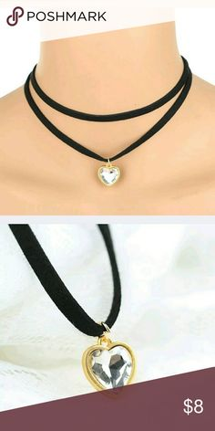 Rope chain choker heart pendant necklace Jewelry Type: Necklace Style: Choker Material: PU Metal: Alloy Theme: Vintage Main Stone: Diamante Pendant Size: Approx. 1.5(L)* 1.5(W) cm Size: Approx. 40.5(L)* 0.5(W) cm Quantity: 1* necklace Jewelry Necklaces