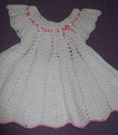 vestido de croche para bebe com grafico - Pesquisa Google