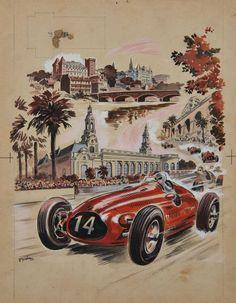Guy SABRAN (Guy Marie Louis Sabran, né en 1902)  Grand Prix de Pau, Mars 1951