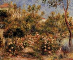 pierre auguste renoir young woman in a garden paintings
