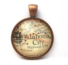 state pendants....#oklahoma of course #necklace #statepride