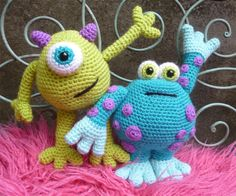 Scary Gary and Horrid Horace  pattern on Craftsy.com