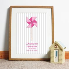 Pink Origami Windmill Posters http://www.personalisedgiftsboutique.com/pink-origami-windmill-poster.html