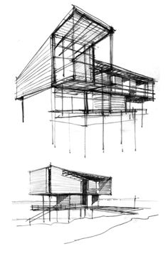 Conceptual Model Architecture, Conceptual Sketches, China Architecture, Architecture Concept Drawings, Architecture Sketchbook, Facade Architecture, Amazing Architecture, Genius Loci, Sketching