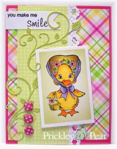#pprstamps Happy Monday Stamps used: FF0057 Bonnie, CLR015A Blobby Flowers