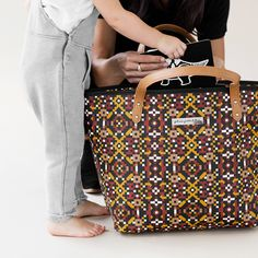 Downtown Tote in Moroccan Mosaic- Discontinued Classic