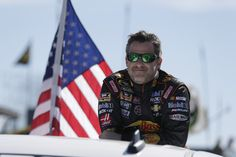 PHOTOS: Tony Stewart during the parade lap before the start of the GEICO 500 at Talladega Superspeedway. View more photos from Talladega here: http://www.stewarthaasracing.com/media/gallery/index.php