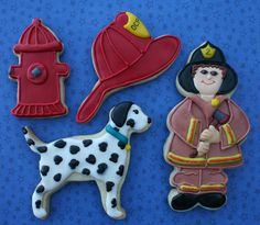 fireman cookies @Heather McCormick I will drive 1/2 way for these!