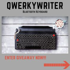 Enter to #win the Qwerkywriter Wireless Bluetooth Keyboard #Giveaway!! http://www.authorstech.com/giveaways/qwerkywriter/?lucky=216 via @Authorstech