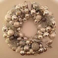 Vintage Christmas ornament wreath 2013