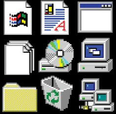 Windows 95 Temporary Tattoo Pack by bllkbox on Etsy Windows 95, Windows Phone, Iphone App Design, Iphone App Layout, Vaporwave, Overlays, Piskel Art, Arte 8 Bits, Iphone Home Screen Layout